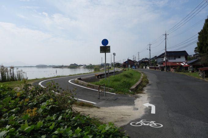 出雲路自転車道の入り口