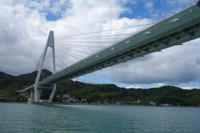 しまなみ海道の生口橋。今回はくぐってお別れ。