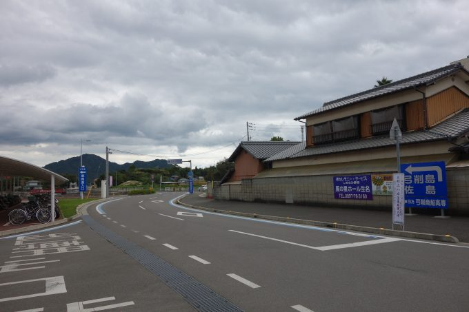 フェリーが到着した、生名島・立石港。ゆめしま海道サイクリングのスタートです