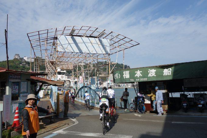 尾道と向島を渡る福本渡船