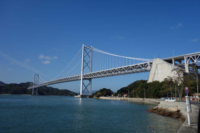 しまなみ海道 因島大橋の遠景