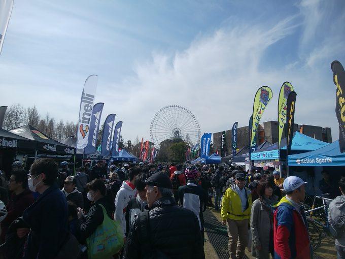 サイクルモードライド大阪 会場風景