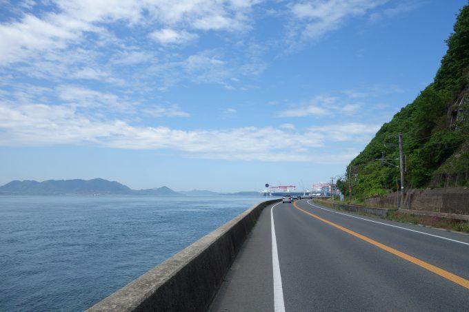 さざなみ海道 竹原への海辺の道