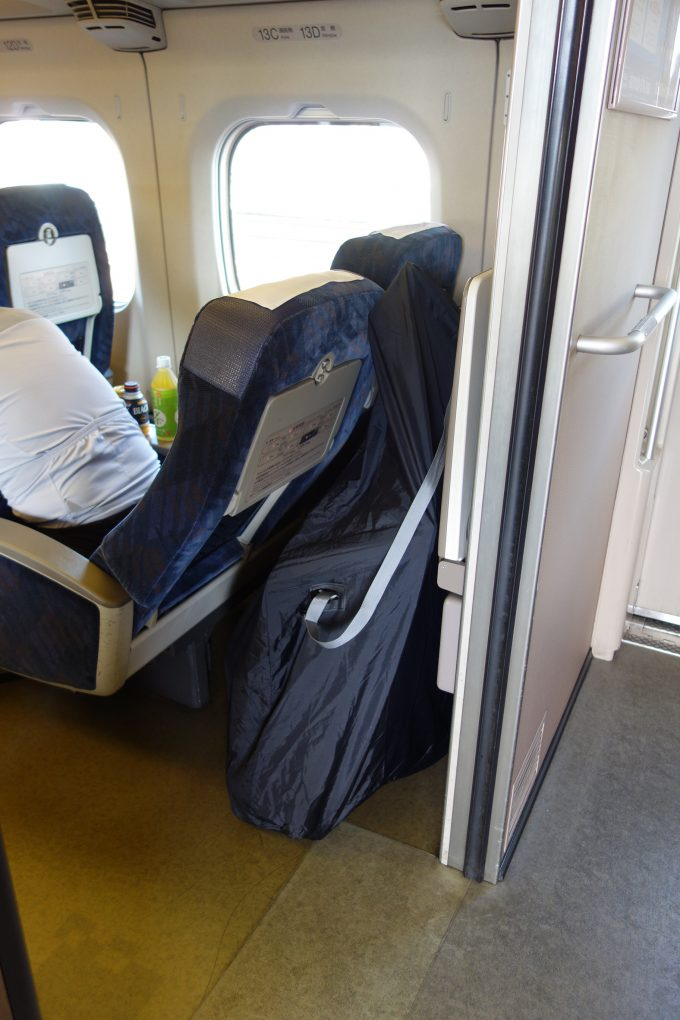 新幹線 一番後部の座席