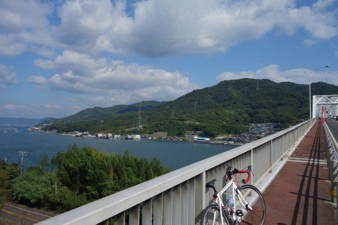 かきしま海道 早瀬大橋の上