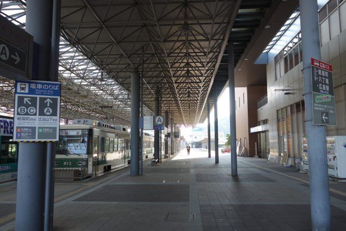 広島港(宇品)の電停とフェリーターミナル