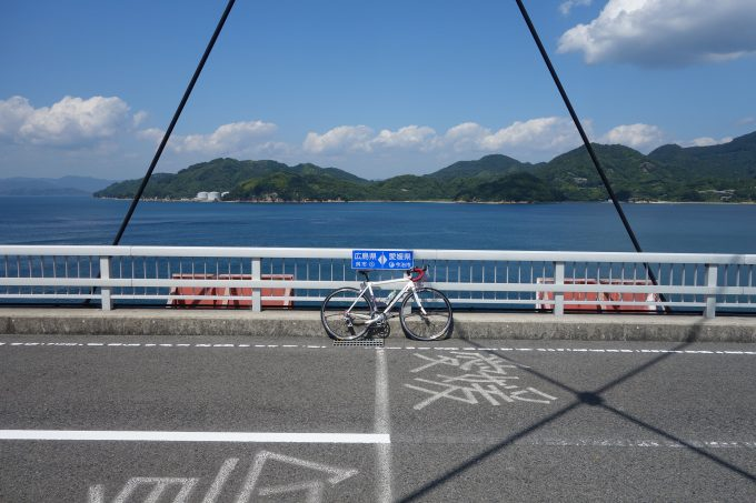 とびしま海道岡村大橋 広島と愛媛の県境