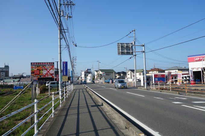 松山空港周辺の道路