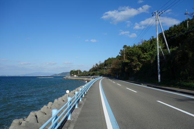 せとかぜ海道の海沿い