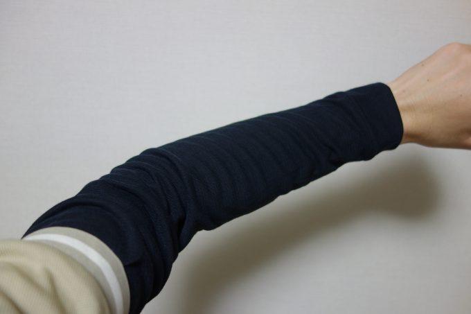 モンベル ジオライン L.W.アンダーウェアの腕部分拡大