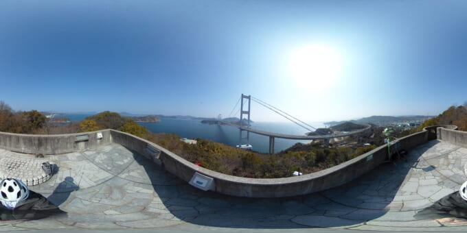 360度カメラの2次元写真