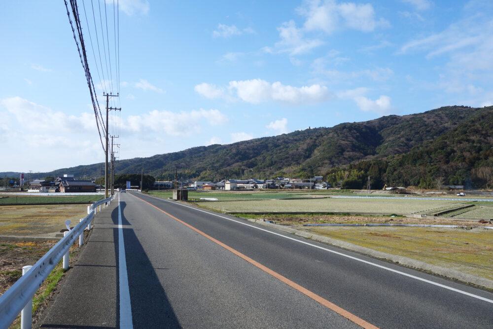 淡路島 福良手前の道路