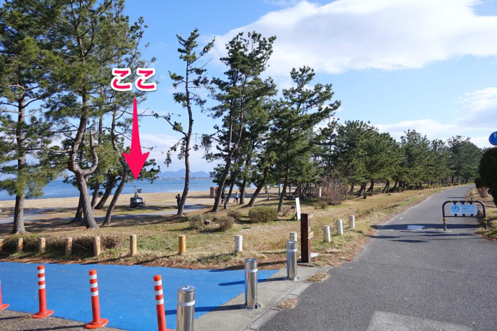 琵琶湖サイクリストの聖地碑の入り口