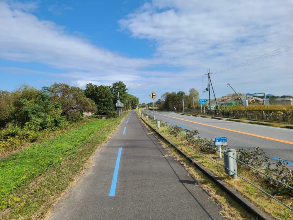 ビワイチの自転車が走りやすい道