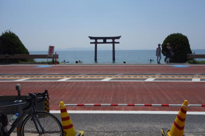 琵琶湖湖西 白髭神社