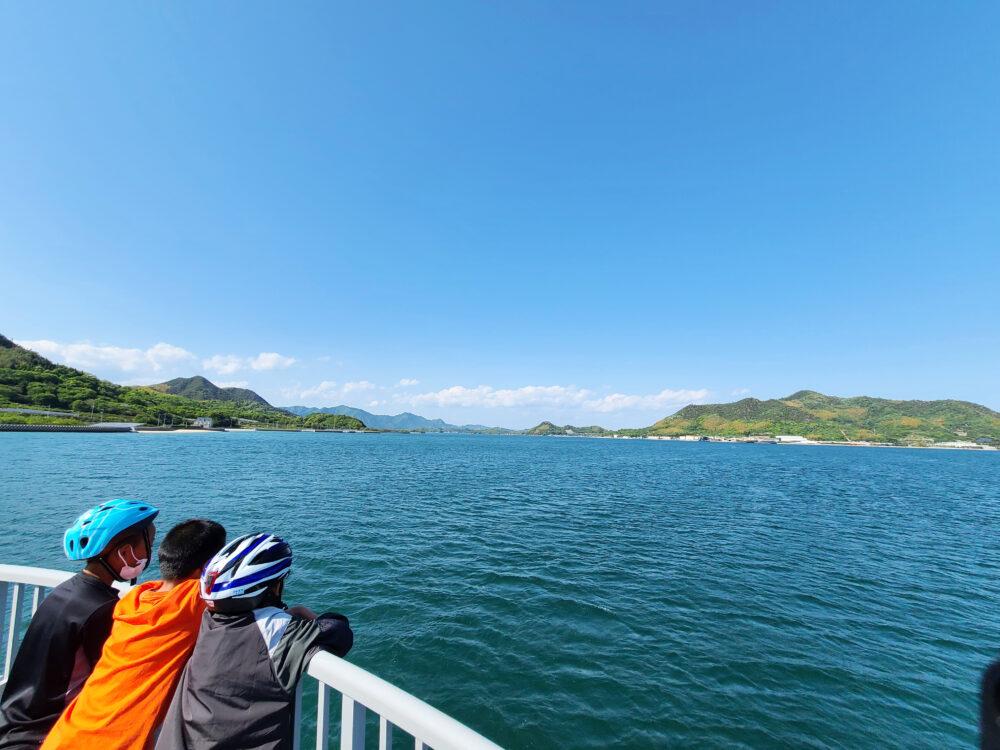 サイクルシップラズリの航行中の景色