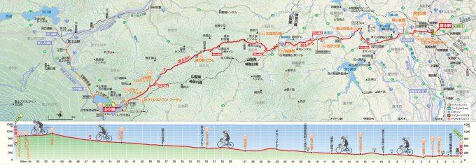 道志みち サイクリングマップ