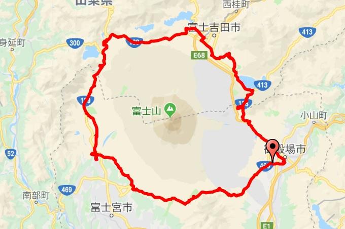 富士山一周サイクリング 富士いち コースログ
