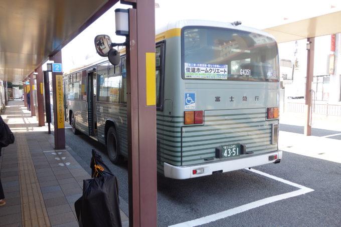 御殿場駅から出る富士急バス