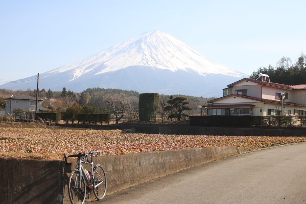 山梨県から見る富士山