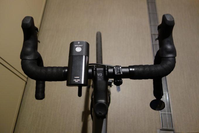 ガシロン フロントライトV9D-1800 装着イメージ