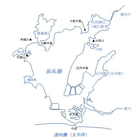 浜名湖の枝湾の地図