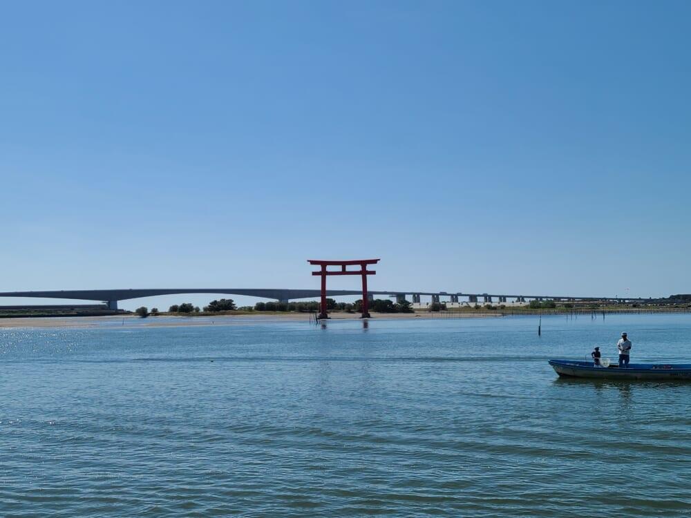浜名湖の大鳥居遠景