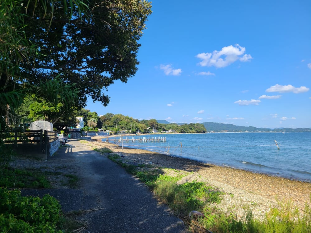 浜名湖湖西の湖岸道路