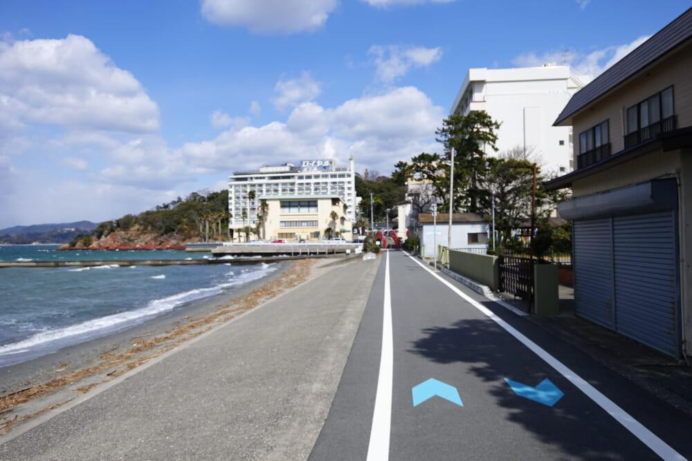 浜名湖一周サイクリング ハマイチ 浜名湖周遊自転車道の舘山寺手前の地点