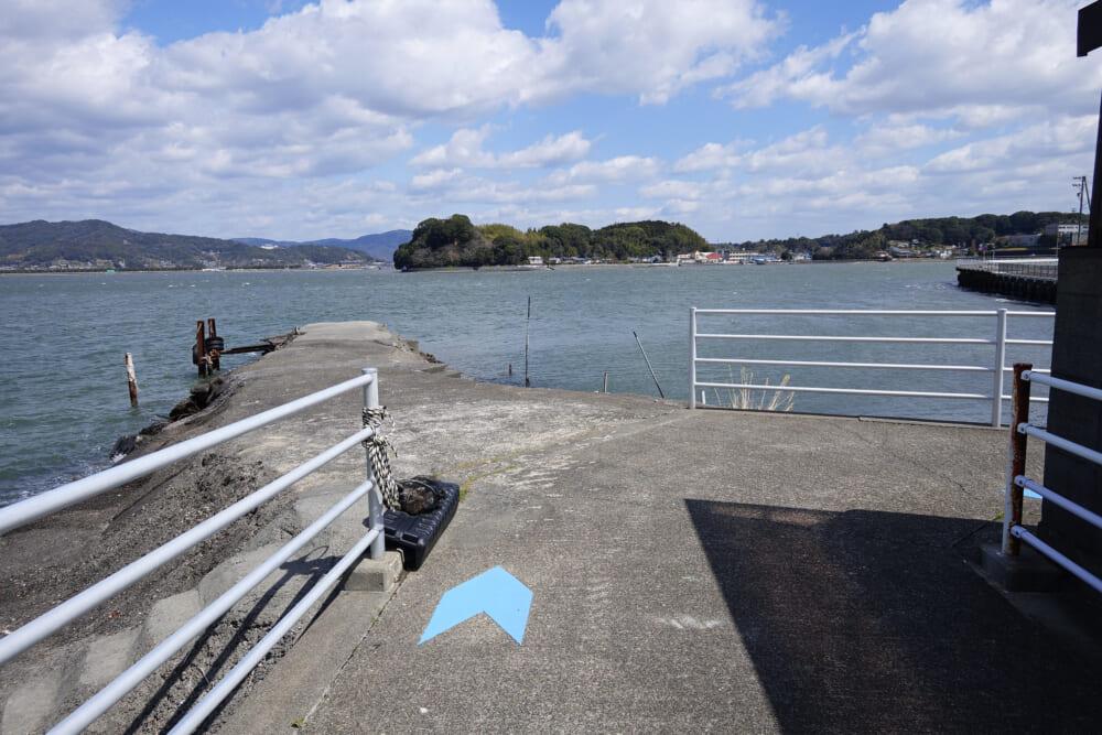 浜名湖サイクリングロードの曲がり角
