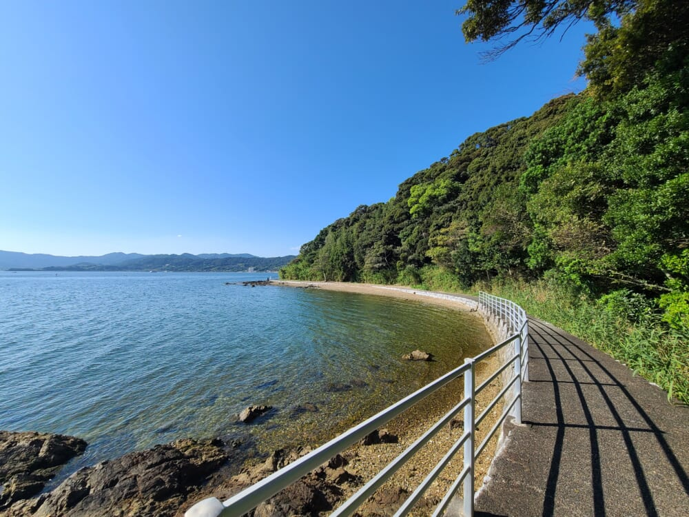 浜名湖湖岸の自転車道