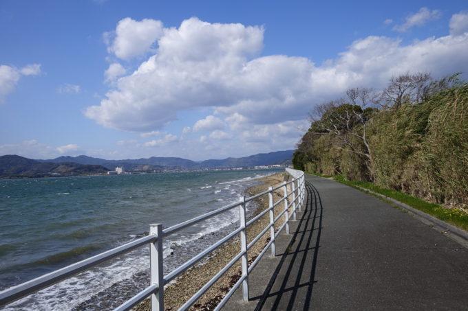 浜名湖一周サイクリング ハマイチ 三ケ日近くの湖岸道