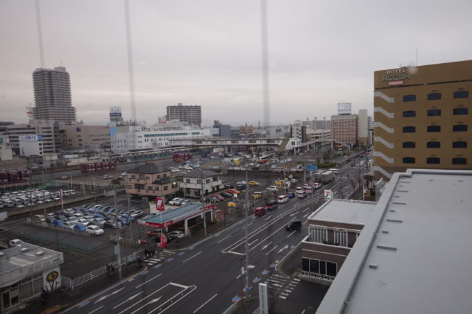霞ヶ浦かすいち宿泊におすすめホテル ホテルグリーンコア土浦から見える土浦駅