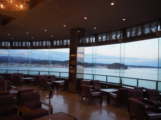 南三陸ホテル観洋 ラウンジの景色