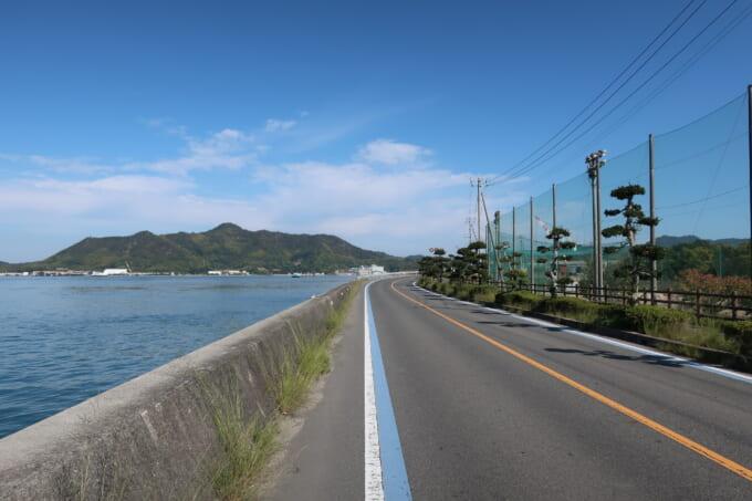 生口島北側の道路
