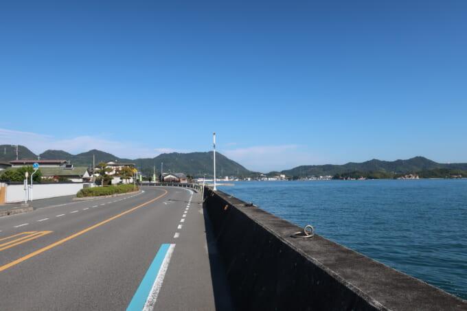 生口島南側の道路
