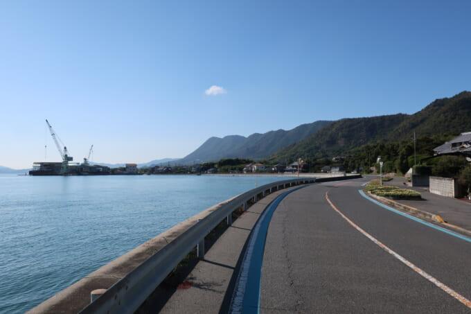 生口島南側の海辺