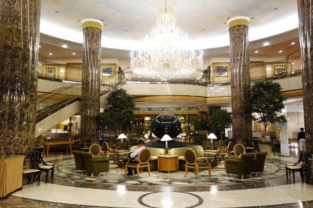 今治国際ホテルのエントランス