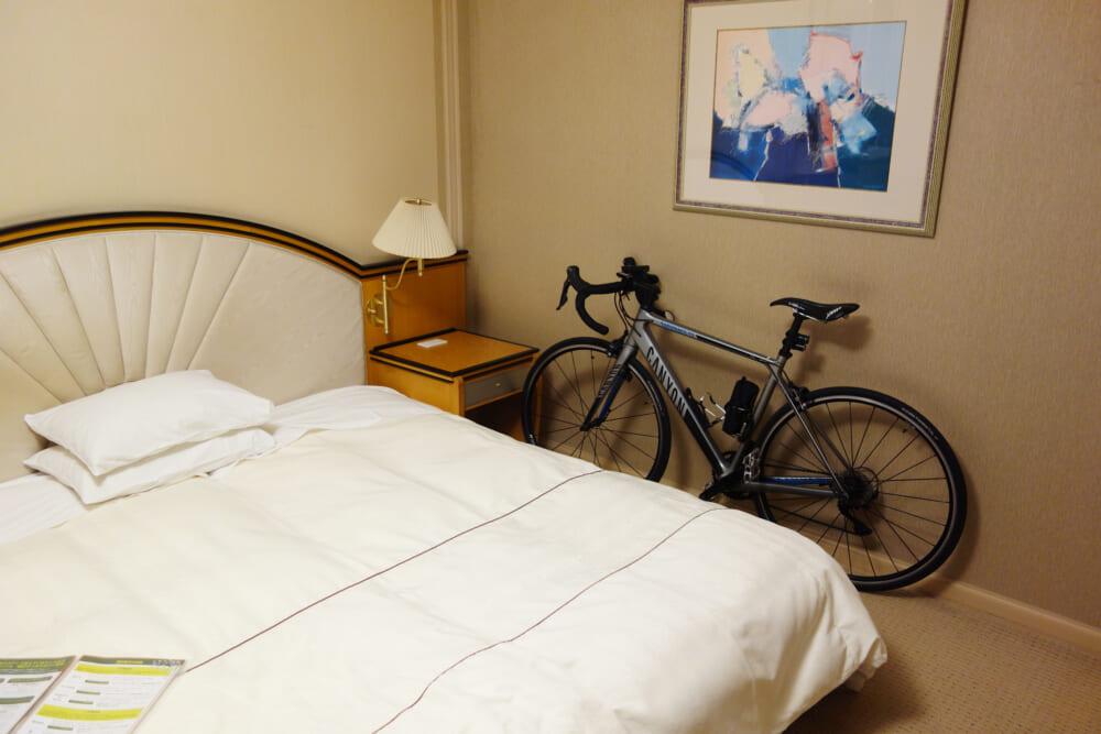 今治国際ホテル 自転車を持ち込める室内