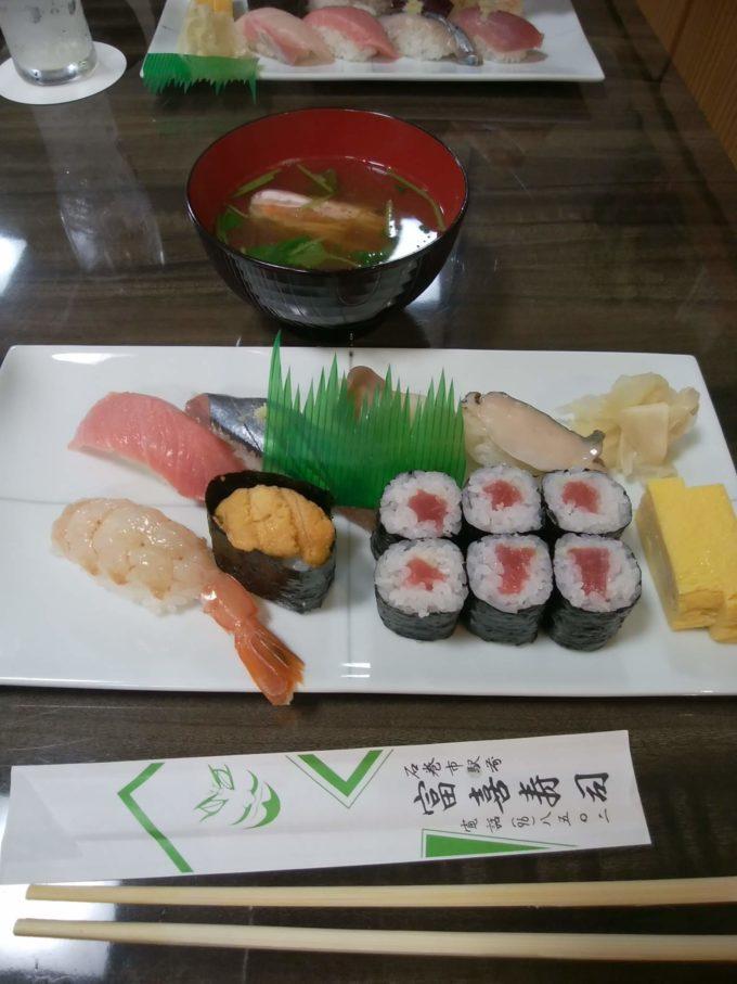 石巻駅前 富喜寿司のお寿司