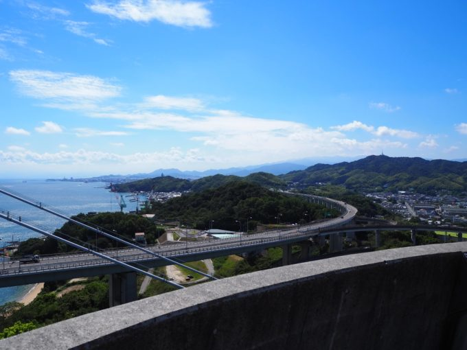 糸山公園展望台から見る今治市街