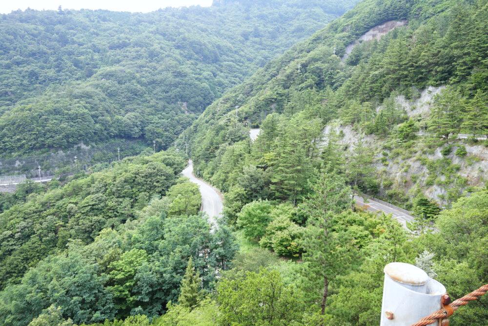 小豆島 寒霞渓のつづら折りの道路