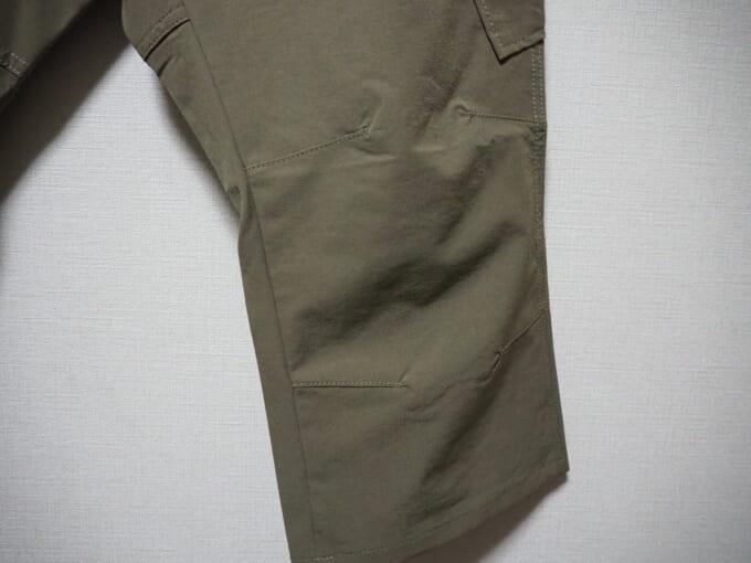 カペルミュール ストレッチクロップドパンツ 裾部分拡大