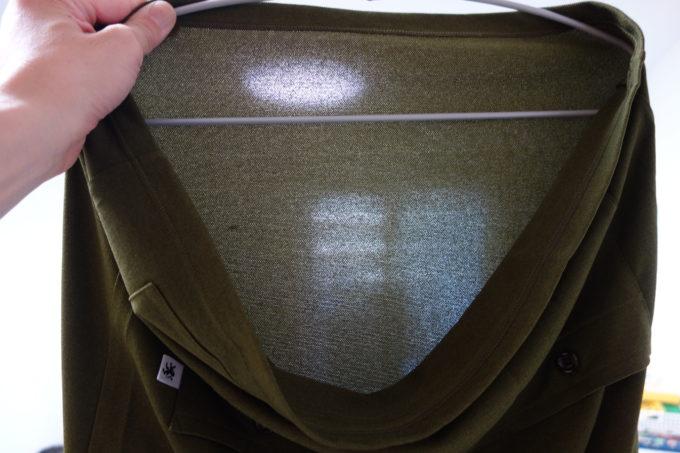 カペルミュール 半袖レトロジャージの生地薄さイメージ