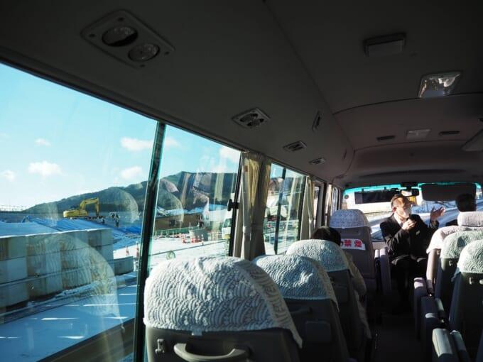 南三陸ホテル観洋 震災語り部バス車内