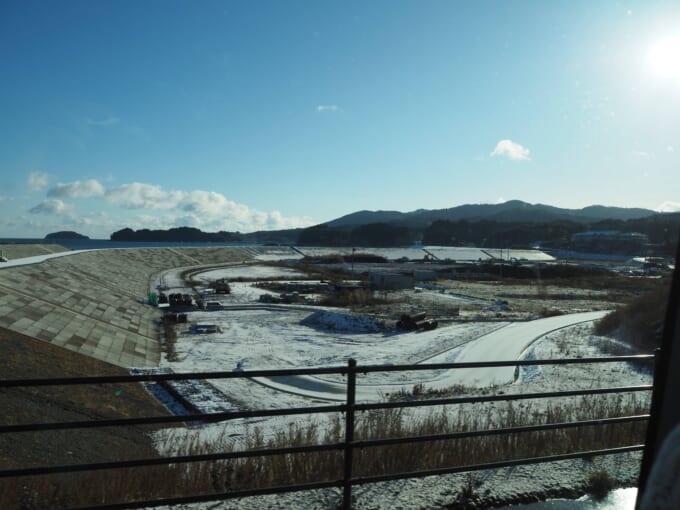戸倉地区のかさ上げ工事