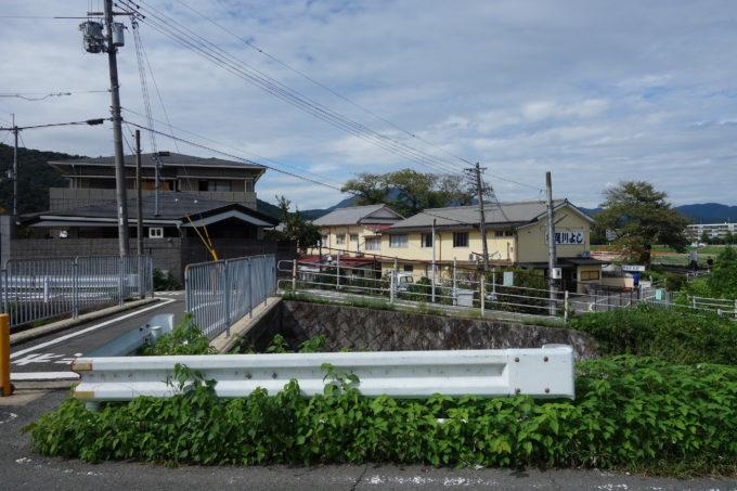 桂川サイクリングロード 嵐山手前の交差路