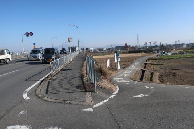 桂川サイクリングロード 西大橋の西側橋詰め