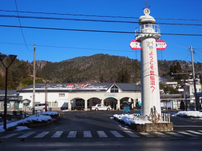 気仙沼駅前の風景