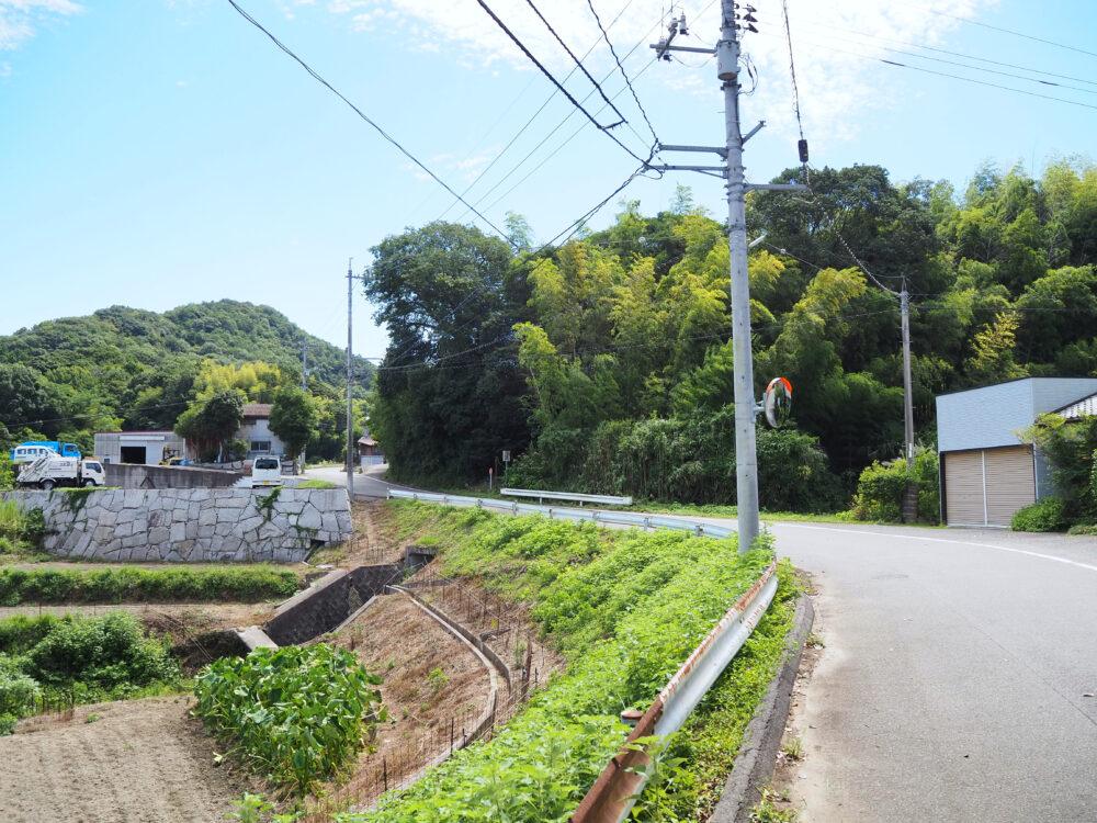 しまなみ海道大島 亀老山への道路